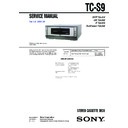 Sony MHC-S9D, TC-S9 Service Manual