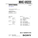Sony MHC-VX222 Service Manual