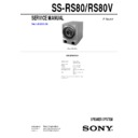 Sony MHC-VX888, SS-RS80, SS-RS80V, SS-VX888RS Service Manual