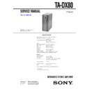 MHC-VX888, TA-DX80 Service Manual