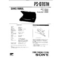 Sony PS-D707H Service Manual