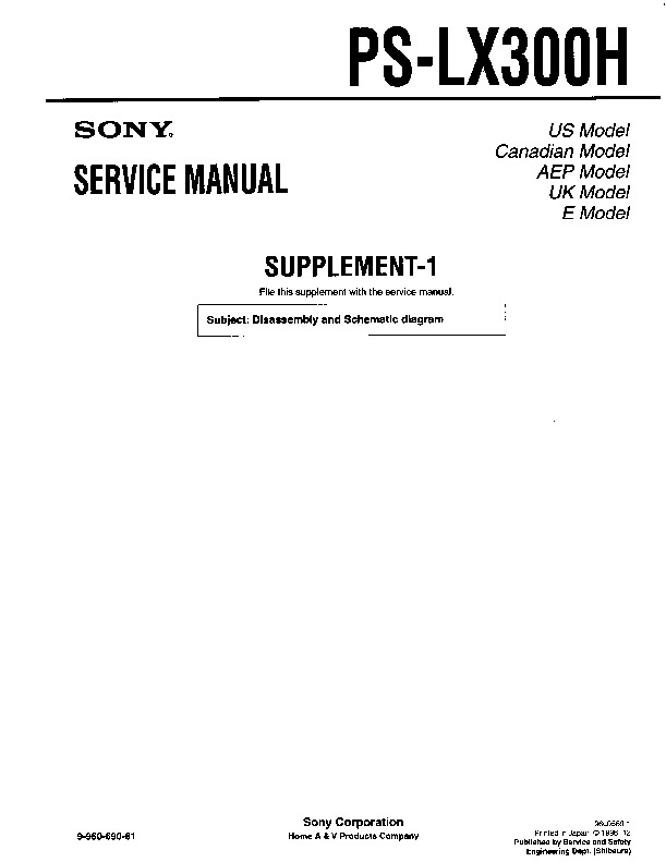 sony ps lx300h serv man2 service manual view online or download rh servlib com Sony Operating Manuals Sony DAV HDX576WF Manual