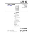 Sony SRF-49, SRF-59 Service Manual