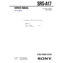 srs-a17 service manual