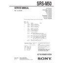 SRS-M50 Service Manual