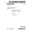 ss-dx80rs, ss-vx888rs service manual