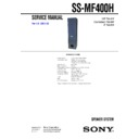 SS-FCR400, SS-MF400H (serv.man2) Service Manual