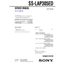 Sony SS-LAP305ED Service Manual