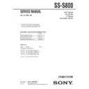 SS-S800 Service Manual