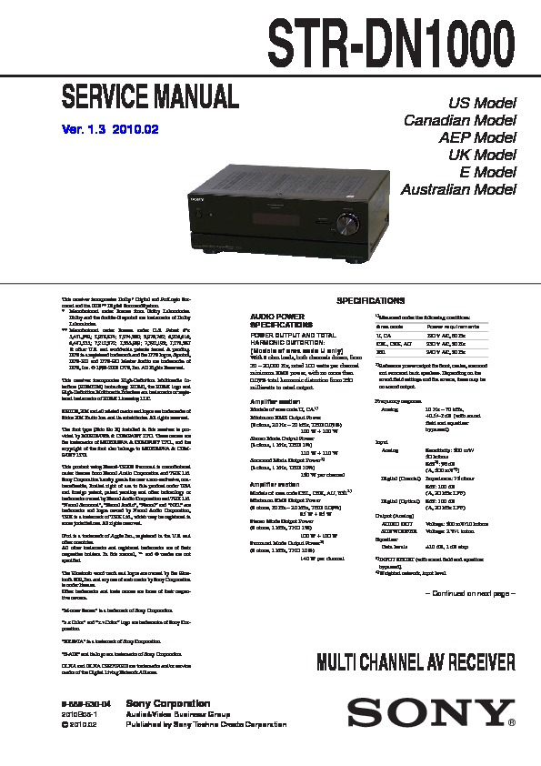 sony str dn1000 manual how to and user guide instructions u2022 rh taxibermuda co str dn1000 manual pdf sony str dn1000 manual pdf