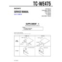 Sony TC-WE475 (serv.man2) Service Manual