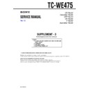 Sony TC-WE475 (serv.man4) Service Manual