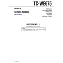 Sony TC-WE675 (serv.man3) Service Manual