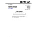 Sony TC-WE675 (serv.man4) Service Manual