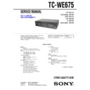 Sony TC-WE675 Service Manual