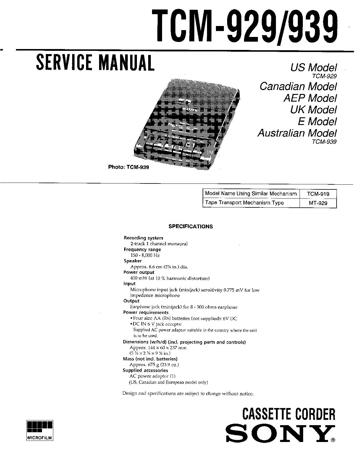 Tcm fd25 owner Manual