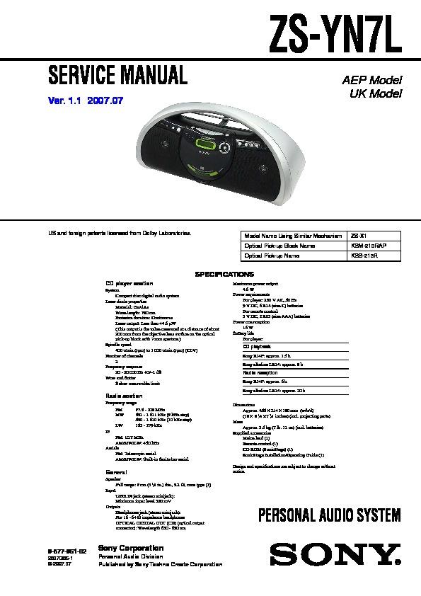sony zs yn7l service manual view online or download repair manual rh servlib com