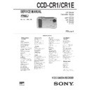 Sony CCD-CR1, CCD-CR1E (serv.man2) Service Manual