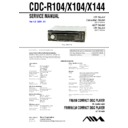 Sony CDC-R104, CDC-X104, CDC-X144 Service Manual