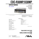 Sony CDC-R30MP, CDC-X30MP Service Manual