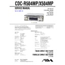 Sony CDC-R504MP, CDC-X504MP Service Manual