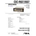 Sony CDC-R937, CDC-X937 Service Manual
