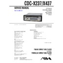Sony CDC-X237, CDC-X437 Service Manual