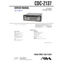 Sony CDC-Z137 Service Manual