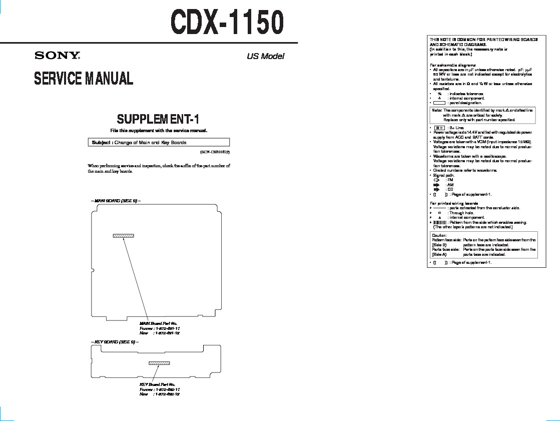 sony cdx-1150 (serv.man2) service manual — view online or download repair  manual  servlib.com