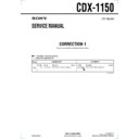 Sony CDX-1150 (serv.man4) Service Manual