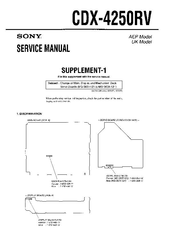 sony cdx 4250 cdx 4500 service manual view online or download rh servlib com  sony cdx-4250 wiring schematic