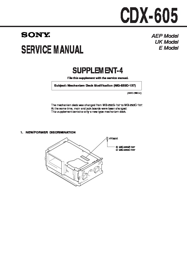 sony cdx 605 serv man4 service manual view online or download rh servlib com 1 Mg of Salt MG-1 Gun