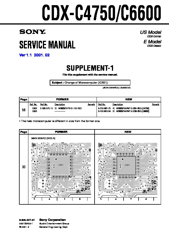sony cd player wiring diagram sony cdx c4750  cdx c6600 service manual     view online or download  sony cdx c4750  cdx c6600 service