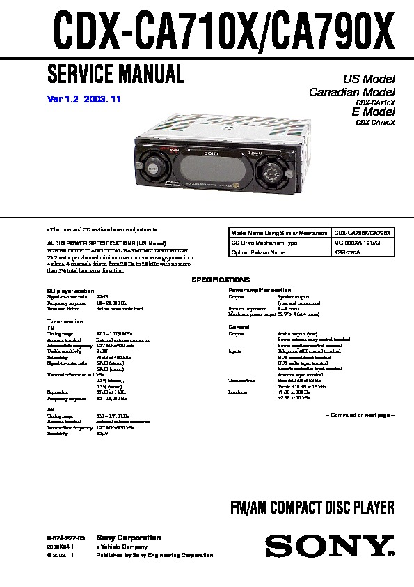 sony cdx f5700 wiring diagram sony stereo wiring colors