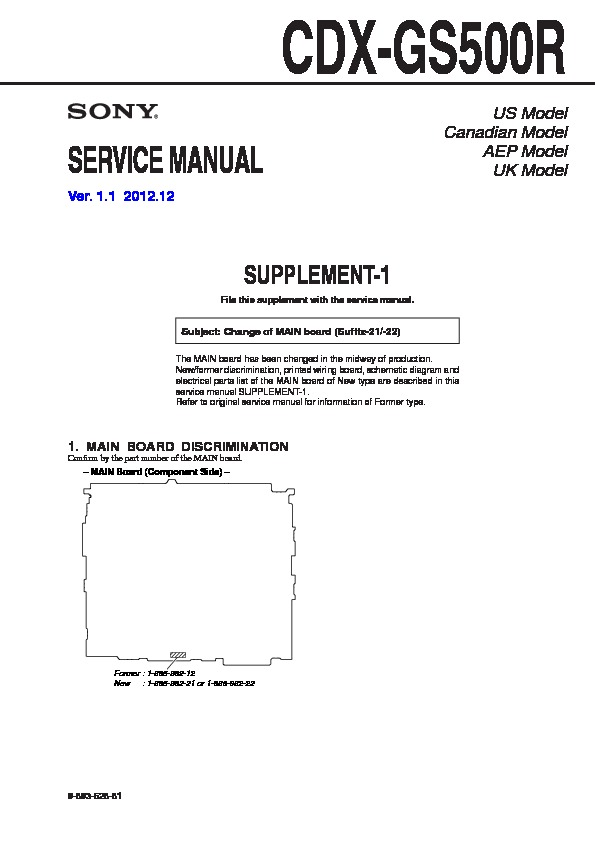 sony cdx gs500r (serv man2) service manual view online or download Sony Xplod 52Wx4 Wiring-Diagram at Sony Cdx Gs500r Wiring Diagram