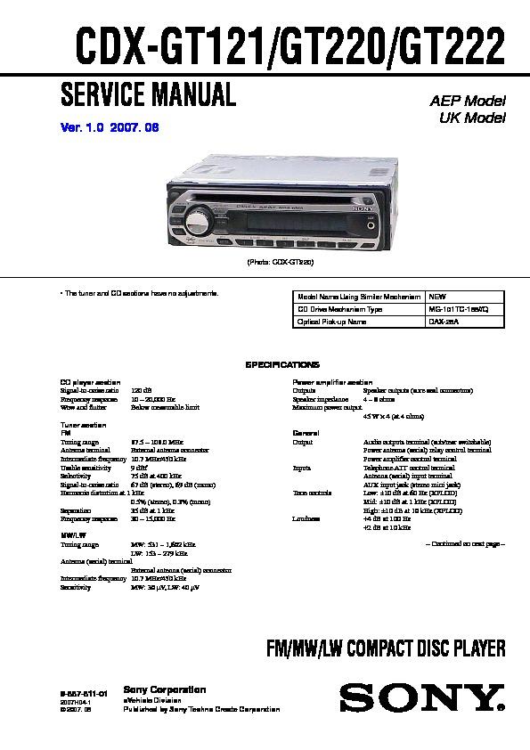 wiring cdx sony diagram gt52w