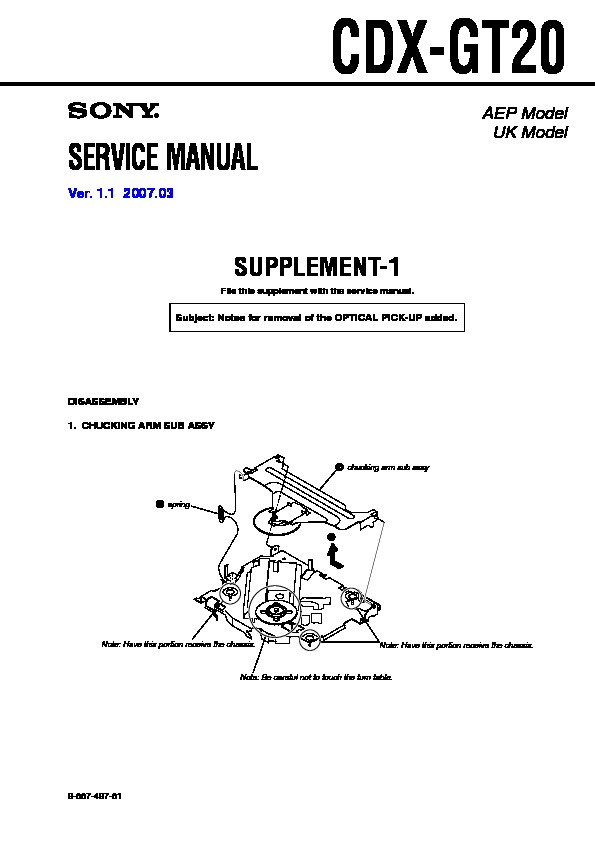 sony cdx gt20 service manual view online or repair manual cdx gt20 serv man2 service manual