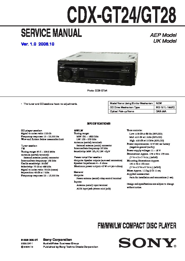 Sony Cdx Gt130 Wiring Diagram from servlib.com