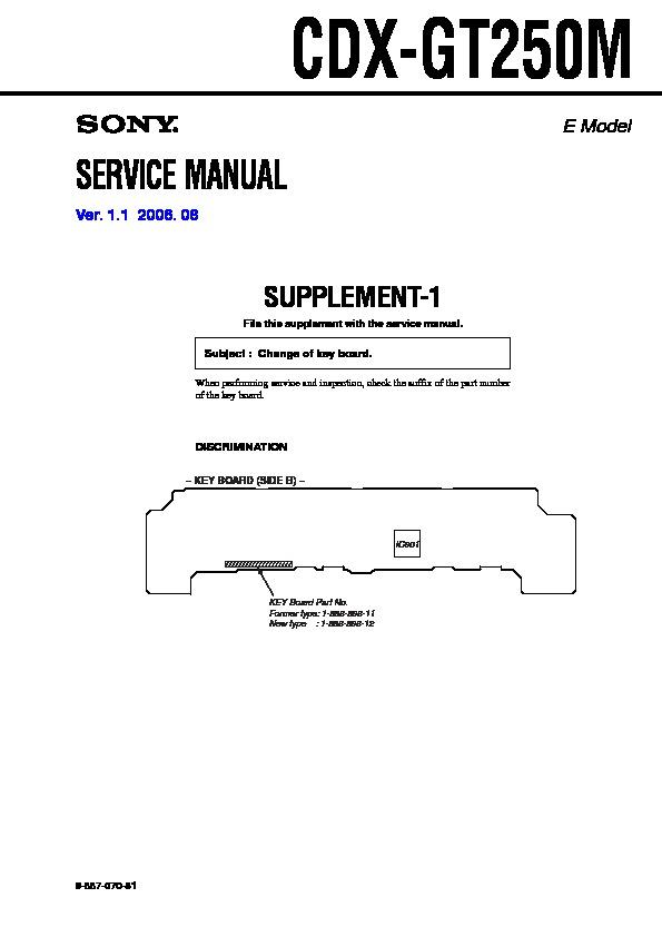 Sony Cdx Gt25 Wiring Diagram