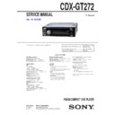 Sony CDX-GT272 Service Manual