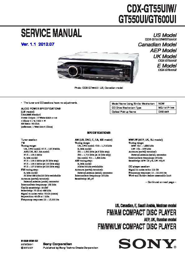 sony cdx l250 wiring diagram for sony cdx gt500 wiring diagram