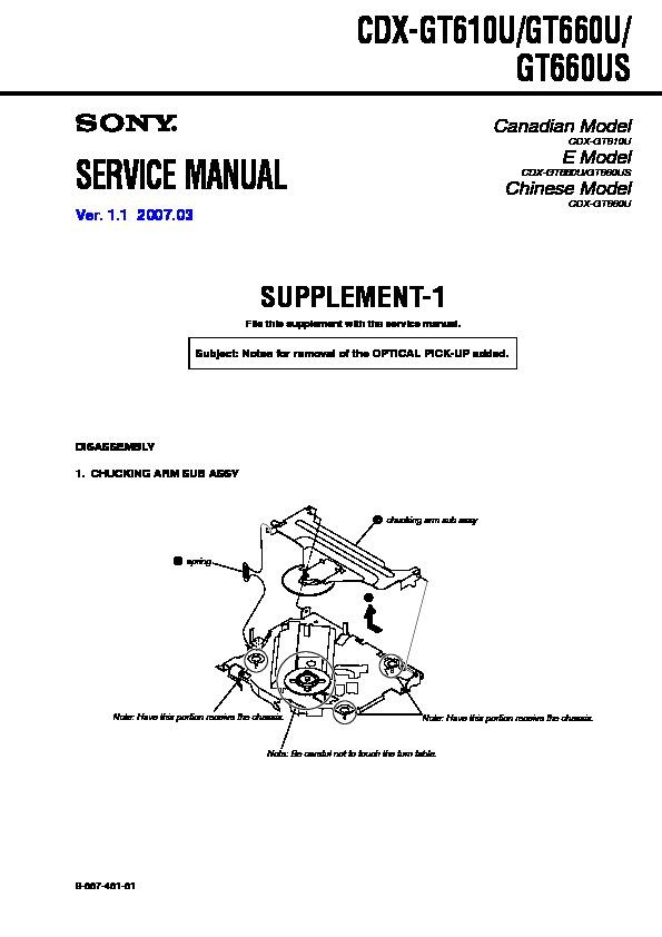 sony cdx gt610u cdx gt660u cdx gt660us serv man2 service manual rh servlib com