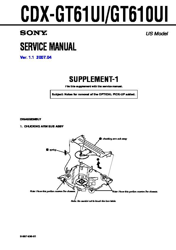 sony cdx gt610ui cdx gt61ui serv man2 service manual view rh servlib com