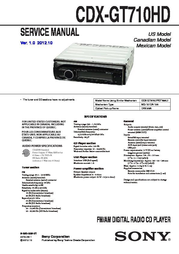 Sony Cdx Gt710hd Wiring Diagram Trusted Wiring Diagram