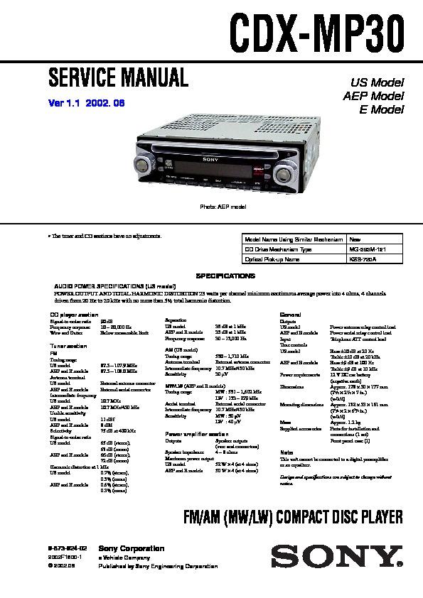 sony car audio service manuals page 35 rh servlib com