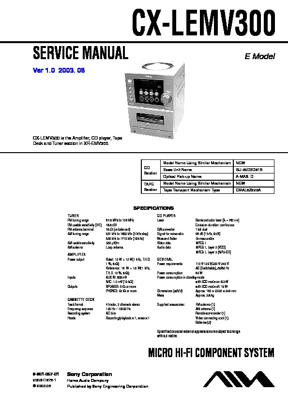 Sony Car Audio service manuals - Page 42