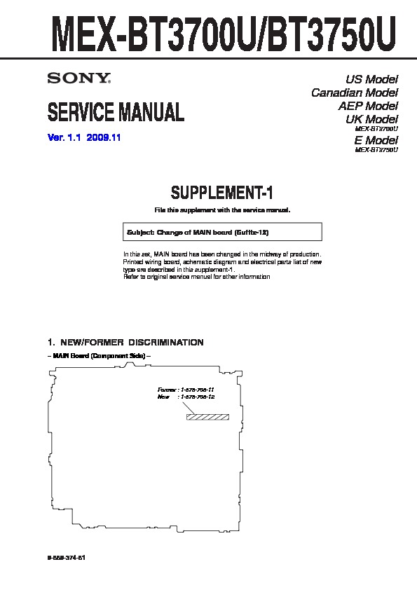 sony mex bt3700u mex bt3750u service manual view online or rh servlib com Sony Xplod Deck Wiring-Diagram Sony Xplod Wiring Harness Diagram