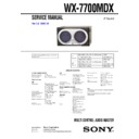 wx-7700mdx service manual