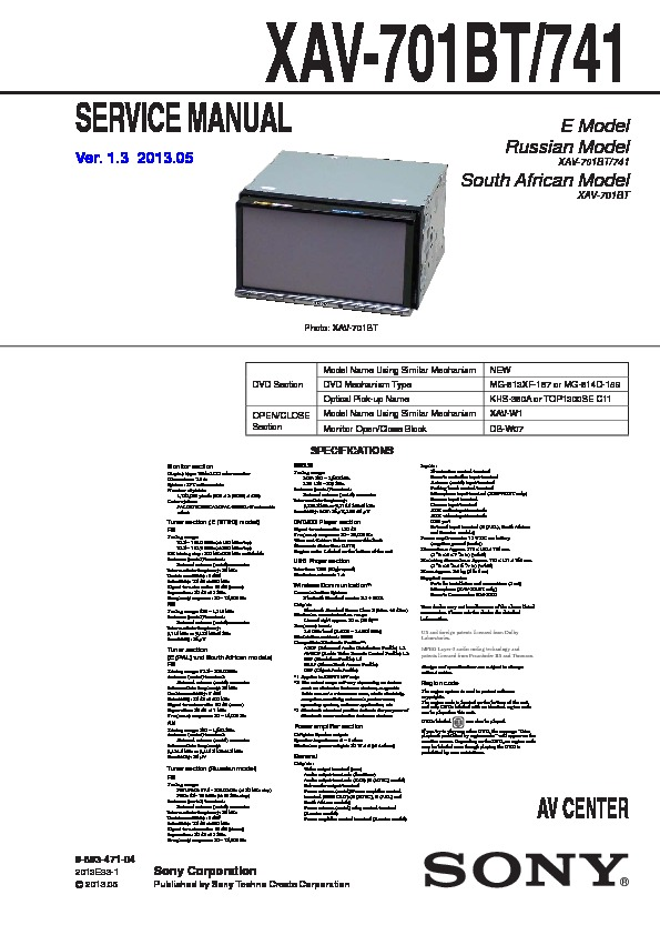 Sony Xav 601Bt Wiring Diagram from servlib.com