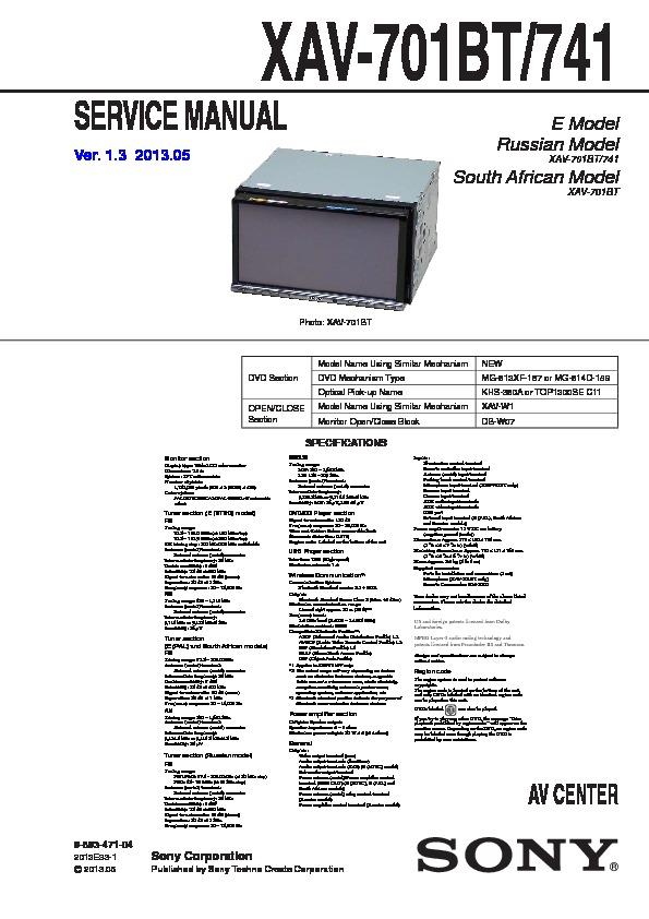 Sony Xav 601Bt Wiring Diagram from servlib.com